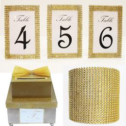 China ecorative home decor 1 Yard DIY Gold Color Diamond Mesh Rhinestone Wraps Ribbon Wedding Bridal Birthday Party Home Decorations By Free Sh... cheap wedding candy wrap free suppliers