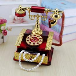 Dial Box NZ - Music Box Classical dial telephone music box Red classic creative music box couple gift birthday present