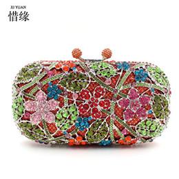 $enCountryForm.capitalKeyWord Canada - XIYUAN BRAND Luxury European and American Style cherry blossoms full Diamond evening bag banquet shoulderbag Clutch wallets