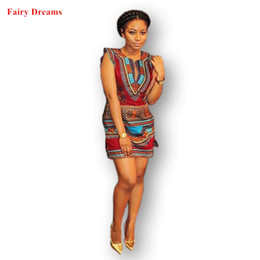 7305361ef6f Women African Dresses 2018 Summer Style Elastic Plus Size Bodycon Sundress  Ladies Dashiki Traditional Africaine Print Clothes