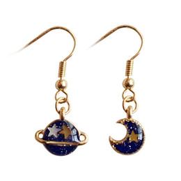 daf92e927c61 Moda (fabricante de joyas) 40 piezas mucho lindo estrellas fantásticas  Fantasía azul planeta luna pendientes fábrica pendientes de moda HJ177