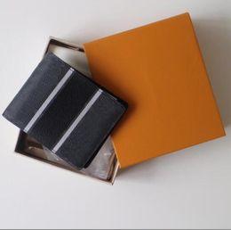 $enCountryForm.capitalKeyWord Canada - Men's genuine leather Multiple Short wallet credit card holder Purses Damier Graphite porte carte Pocket Organiser Brazza With Box Bags