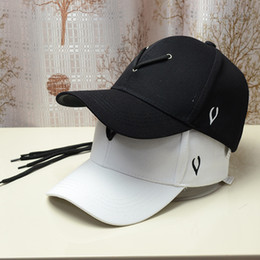 d87afa6f981 Jackson Hats NZ - Jackson Wang Baseball Cap Men Rap Hat with Adjustable  Cord Black White
