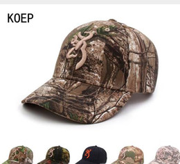 42a3702a7cb KOEP Browning Camo Baseball Cap Fishing Caps Men Outdoor Hunting Camouflage  Jungle Hat Airsoft Tactical Hiking Casquette Hats