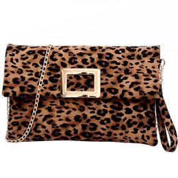 chain style designer clutch 2019 - Luxury Handbags Women Designer Envelope Clutches Ladies Velert Chains Shoulder Bags Fashion Leopard Pattern Bags For Wom