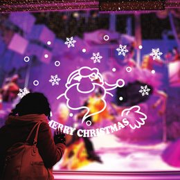 $enCountryForm.capitalKeyWord Canada - Personalized Festival Merry Christmas Santa Claus Wall Stickers Mural Shop Window Decals Xmas Wallpaper Living Room Bedroom Home Decoration