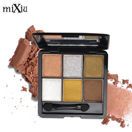 $enCountryForm.capitalKeyWord NZ - MIXIU Professional 6Colors Makeup Nude Matte Eye Shadow Palette Long Lasting Maquiagem Pigment Glitter Eyeshadow Make Up With Brush