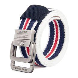 $enCountryForm.capitalKeyWord Canada - Canvas belt men's leather belt alloy double ring button fashion jeans junior students