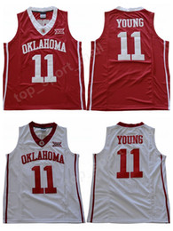 China NWT Men Trae Young 11 Oklahoma Sooners Jerseys University Basketball Trae Young College Jersey Sale Team Red Color Away White Sport Uniform cheap jerseys red color suppliers
