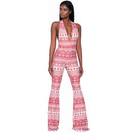 45dd7f10fa S-XXL 5 Colors sexy printed rompers womens bodycon jumpsuit 2018 summer  halter bodysuit club wear