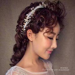 $enCountryForm.capitalKeyWord Australia - Flower feathered headdress with sweet wedding wedding dress accessories jewelry ornaments smart New style