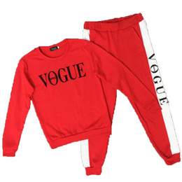 $enCountryForm.capitalKeyWord UK - VOGUE Letter Printed Two Piece Set Top and Pant Tracksuit For Women Hoodie Suits Long Sleeve Sporting Suit Female outfits