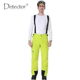 Warm Waterproof Pants Men NZ - Detector Outdoor Sport Pants Men Hiking Camping Pantalon Trekking Windstopper Waterproof Climb Softshell Warm Mens Ski Pant