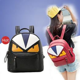 Korean New Designer Unique Little Monster Backpack Women Cute Bird Face Backpack  School Bags For Women 2018 39801e83d94c3