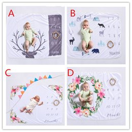Infant swaddlIng blankets online shopping - Xmas CM newborn photography background props baby photo prop fleece floral deer printed backdrops infant swaddle blankets wraps soft B