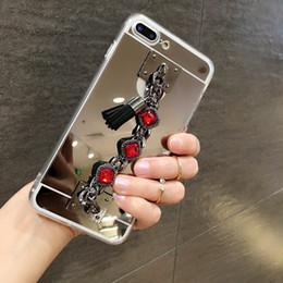 Chains For Mirrors Australia - Diamond bracelet chain tassel mirror phone case cover For OPPO A39 A57 A59S A77 A71 A73 A75S A79 A83 F5 F7 F1S