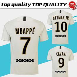 Discount uniform army - #7 MBAPPE PSG away white Soccer Jersey 18 19 #10 NEYMAR JR Paris Saint-Germain Soccer Shirt 2019 #9 CAVANI Football Unif