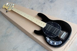 $enCountryForm.capitalKeyWord Canada - Black Left-hand 5 Strings Electric Bass Guitar with ,Black Pickguard,Chrome Hardwares,offer customized
