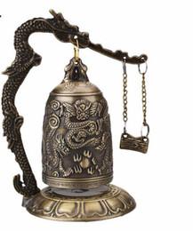 Brass dragon Bell online shopping - ORAF Home Decoration China Buddhism Brass Copper Carved Statue Lotus Buddha Dragon Bell Clock Bronze Buddhist Bells Artware