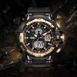 Men S Big Watch Australia - 2018 NEW Watch Waterproof 50M S Resitant Sport Watches saat Digital Clock Men Army Big Men Watch Sport