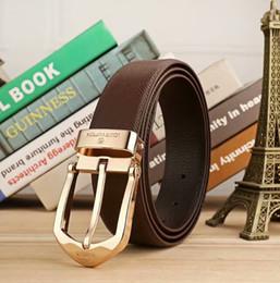 Brown Leather Belt Gold Buckle NZ - Men's Imitation leather Belt Men Belts Luxury Strap Male Waistband Fashion Vintage Buckle Belt black white brown belt #919 New