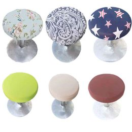$enCountryForm.capitalKeyWord NZ - Bar Stool Covers Round Chair Seat Cover Cushions Sleeve Dia 9.8 -13 inch Gallery Stool Covers Many Colors Wholesale