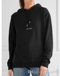 Appen SAINT L P estampado en el pecho más suéter con capucha acolchado de terciopelo para hombres y mujeres a través de la manga corta en venta