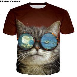 fashion cat cartoon 2019 - Famous cartoon cute cat pattern tops tees for women men plus size summer Shirt short sleeve fashion t-shirt promotion sa