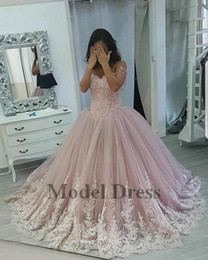 Spring Water Quality Canada - Dusty Rose Ball Gown Girls Pageant Dresses for Prom Party Lace Appliques High Quality Tulle Floor Length Sweet 16 Quinceanera Dresses 2018