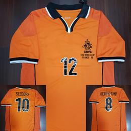 1998 Bergkamp Kluivert Seedorf Retro Soccer Jersey 98 Netherlands Jersey  Holland Voetbal Vintage Football Shirts Camiseta Maillot Camisa 97afc748b