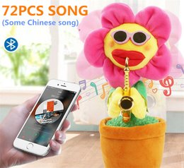 $enCountryForm.capitalKeyWord Australia - Novelty electric sunflowers Toy singing Music Sexy Musical enchanting Flower Dancing Saxophone Stuffed bluetooth play and build-in 72 songs