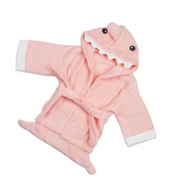 $enCountryForm.capitalKeyWord UK - Baby Kids Infant bath towel robe Animal Bath Wraps Towel Cotton Hooded Bathrobes Blanket Swimming Beach