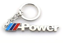 Car Key Ring Key Chain M Power Emblem Badge For Bmw E70 X5 E82 E92 E93 M3  X1 E87 E46 Auto Accessories Car Styling