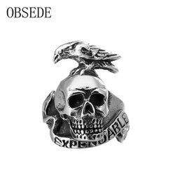 d838906d6ab9 OBSEDE 2017 New Arrival Vintage Bird Animal Rings for Men Gothic Skull Ring  Pearsonality Style Alloy Jewelry Men Ring