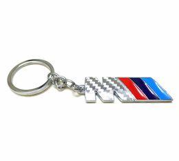 Chinese  Fashion Car Logo Carbon Fiber Keychain Keyring Key Chain Key Ring Holder For BMW M M3 M5 Power Performance E46 E39 E36 X1 X3 X5 X6 manufacturers