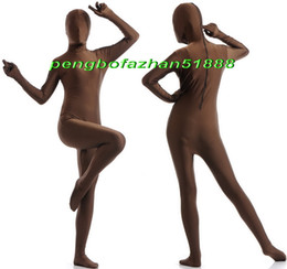 Xl Full Body Suits Australia - Unisex Full Body Suit Costumes Outfit New Coffee Lycra Spandex Suit Catsuit Costumes Unisex Sexy Full Bodysuit Costumes Outfit P405