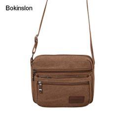 f2f67f3a5e1c Bokinslon Crossbody Bags Men Canvas Practical Travel Bags Man Solid Color  Large Capacity Shoulder For Male