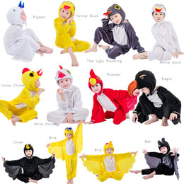 yellow duck costumes 2019 - JinXuan Bird Duck Chicken Rooster Bat Eagle Pigeon Penguin Kids Children Adult Animal Costume Jumpsuit Stage Show Party