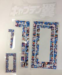 Japan badges online shopping - 2018 season Japan Cartoon Tsubasa Nameset printing Soccer Patch Badge For Adult and Kids Size Flocking