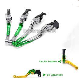 Levers For Kawasaki Australia - CNC Aluminum Folding Brake Clutch levers Set For Kawasaki Ninja 300 2013-16