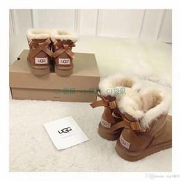 Stivaletti Stivali da neve in pelle firmati da donna Scarpe piatte Stivali  da neve neri   grigi   marroni   caffè 3260 acba91696f5