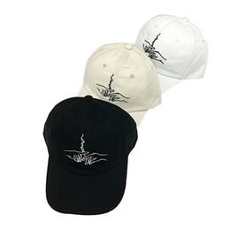 da19dc3b753 200PCS LOT Hands Smoking Embroidery Men Women Baseball Cap Summer Black  White Design Dad Hat Casual Casquette Hats