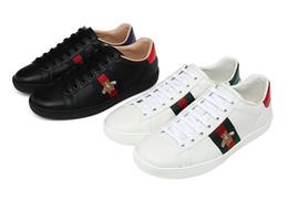 339acf232b52c9 Luxus schuhe marken online-Mens Frauen Schuhe Turnschuhe Müßiggänger  Designer Luxury Brand Weiß Stickerei Bee