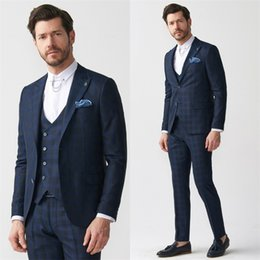 $enCountryForm.capitalKeyWord NZ - Handsome 2019 Mens Suit New Design Three Pieces Groom Suit Wedding Suits For Best Men Slim Fit Groom Tuxedos For Man(Jacket+Vest+Pants)