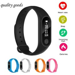 oled smart watch 2019 - Smart Bracelet M2 Waterproof ip67 smart watch Heart Rate Monitor bluetooth Smartband Health Fitness OLED for Android iOS