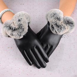 $enCountryForm.capitalKeyWord UK - Women Warm Thick Winter Gloves Leather Elegant Girls Brand Mittens Free Size With Fur Female Touch screen Gloves