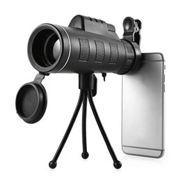 monocular lens 2019 - Beileshi 40x60 Monocular Telescope With Cell Phone Clip Tripod Handheld Monocular Multi-Coated Zoom Lens Hunting Monocul