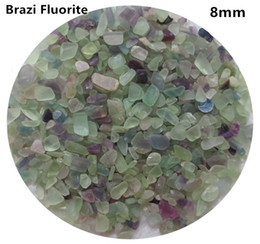 Crystal Chips NZ - C09 5~7mm Natural Brazil Fluorite Amethyst Stone Crystals Chips Quartz Aquarium