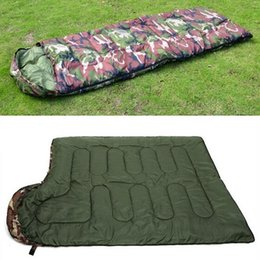 $enCountryForm.capitalKeyWord NZ - Outdoor Camping Sale High quality Cotton Sleeping Bag Envelope Style army or For Travel Hiking Mountaineering LazyBag