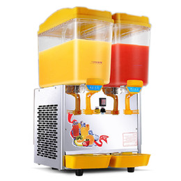 cold sprays NZ - Beijamei 17L*2 Double Cylinder Dispenser Cold and Hot Drink Machine Commercial Spray Stir Beverage Juice Dispenser